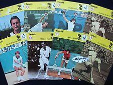 """TENNIS SPORTSCASTER COLLECTORS CARDS 1977/79  (6 ¼"""" x 4 ¾"""") Ref 196/TWENTY-THREE"""