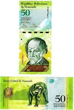 Venezuela 50 Bolivares Uncirculated Note, Year 2012