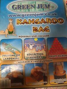 Fruit Picking Apron kangaroo bag new green jem gardening laundry
