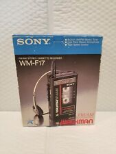 VTG SONY WALKMAN WM-17 COMPLETE WITH BOX/HEADPHONES/MANUAL TESTED WORKS!