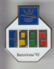 RARE PINS PIN'S .. OLYMPIQUE OLYMPIC BARCELONA 92 CHRONOMETRE WATCH  BIG 3D ~17
