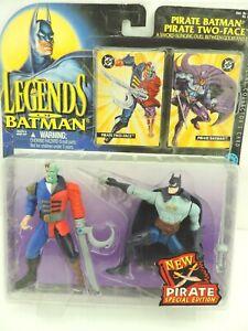 Kenner Legends of Batman  Pirate Batman & Pirate Two Face Action Figures - 1995
