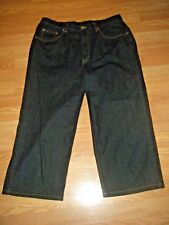 NWOT CHIC0'S ADDITIONS STRETCH DK DENIM JEAN CAPRIS SIZE 2