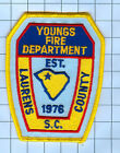 Fire  Patch  - YOUNGS FIRE DEPARTMENT LAURENS COUNTY S.C.