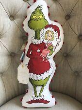 Pottery Barn Teen GRINCH  Cindy Lou Pom Pom CHRISTMAS Pillow Dr Seuss Decor New