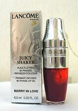 LANCOME Juicy Shaker PIGMENTI INFUSI BI-PHASE LIP petrolio-BERRY IN LOVE 283 NUOVO CON SCATOLA