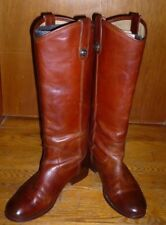 FRYE Melissa Button #77167 Tall Brown Leather Riding Boots Pull-On Sz 7.5 B