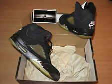 NIKE AIR JORDAN 5 V BLACK METALLIC SILVER 1999 SIZE 9,5 / 43 NEW MINT RAR