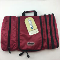 B5 Ebags Pack-It-Flat Classic Hanging Toiletry Bag Kit Raspberry Red