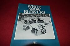 White Oliver Tractor Snow Blowers Dealers Brochure YABE6