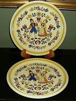 """Mikasa Country Store ~ Courtship ~ Dinner Plates  10-3/4"""" Set of 2"""