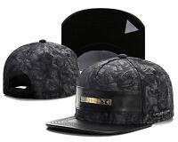 2016 NEW Fashion Men's bboy Hip Hop adjustable Baseball Snapback Hat cap Black