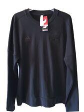 Houston Dynamo NWT Black On Black Sweater MLS Adidas Forever Orange