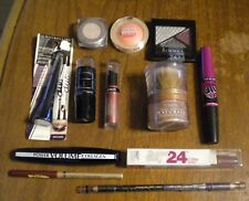 LOT OF 12  ASSORTMENT OF MAKE UP- NYC, MAYBELLINE, L'OREAL, REVLON & RIMMEL