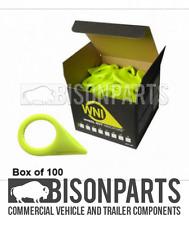 * 30MM X 100 punto de comprobación Indicador De Tuerca De La Rueda/puntero amarillo WNI30MM X 100