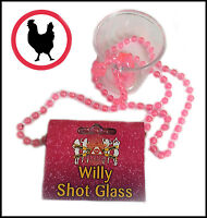 6,12,24 Willy Penis Shot Glass NECKLACE Hen Night Party Fun Bag Drinking Novelty