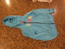 Puma blue girl's 6X Hoodie Youth long sleeve Full Zip up warm up jacket track