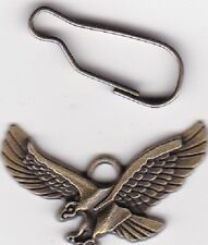 Eagle Charm with loop--(one-sided)--Antiqued brass pewter--FREE SHIPPING