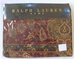 NEW Ralph Lauren Home Equestrian Paisley Twin Flat Cotton Sheet Vtg