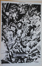 BRUCE GUICE original art, BIRDS of PREY #22, pg 21, 11x17, 2000, Splash