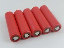 5x Sanyo Batteria UR18650W2 / Li-MN / Li-Ion / 3.6V / 1.5Ah