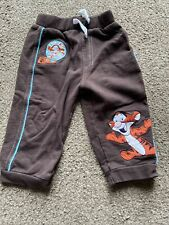 BOYS-TROUSERS-JOGGERS-AGE 6-9 MONTS-TIGGER-DISNEY-BROWN