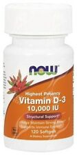 Now Foods, Vitamin D3, 10,000IU x120 Softgels;- SAME DAY DISPATCH BEFORE 2PM!!