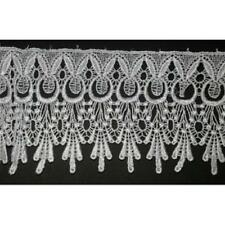 "4.1/4""(108mm) White Venise Lace Trim x 1 yard"