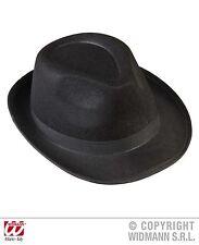 style gangster,Mafia chapeau noir,Ruban de noir femme homme Capone années 20