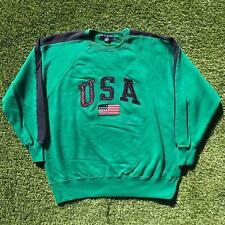 Vintage RALPH LAUREN POLO SPORT 1996 USA Sweatshirt Mens Large Green