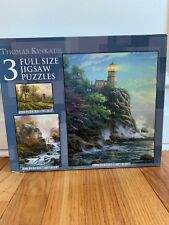 NEW Sealed Thomas Kinkade Painter of Light 3 Full Size Jigsaw Puzzles.