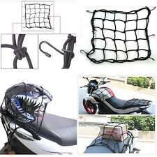 Motorcycle Tank Luggage Rack Black 6 Hook Storage Elastic Net Fixed Helmet Cargo