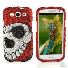 A-Z Gadgets Branded Bling Rhinestone Case for Samsung Galaxy S3 Skull Pattern