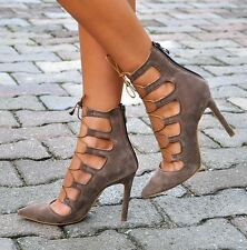 FASHION WOMAN SHOES SPECIAL DESIGN  HIGH HEELS LEATHER BURGUNDY BROWN TRENDY