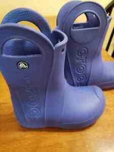 CROCS Kids HANDLE IT RAIN GARDEN BOOTS Size TODDLER C 10 Children's Shoes
