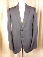 Armani Collezioni Wool Charcoal Shadowed Pinstripe Suit C40R W36 L29.5