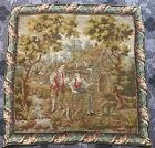 Antique French Tapestry - Hand Woven 76 X 76 Cm