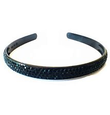 USA Handmade Headband Rhinestone Crystal Hairband Hairpin Bling Black B07