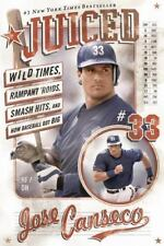 JUICED by Jose Canseco FREE SHIP paperback book memoir baseball wild times MLB