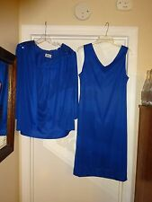 Gilberti USA Royal Blue Dress with Jacket Formal Evening Gown See Measurements