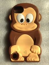 iphone 5 MONKEY RUBBER case mocca NEW no tags
