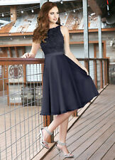 Short Elegant Lace Formal Chiffon Bridesmaid Evening Party Prom Dresses Size6-18