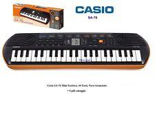 Casio SA 76 TASTIERA ELETTRONICA ARANCIONE SA76 LCD 44 Tasti 50 Ritmi + 6 PILE