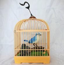 Singing Chirping Realistic Bird Cage Sound Movement Music Box Mechanic Toy Kids