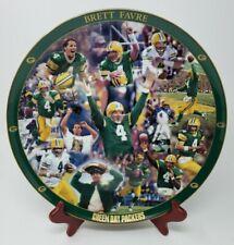 HOF Green Bay Packers Brett Favre #4  NFL Numbered Danbury Mint Plate SHIPS FREE