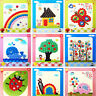 1Pc DIY Button Drawing Painting Interactive Material Kids Educational Toys LJ