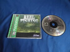 REEL FISHING Playstation game COMPLETE! Near Mint Disc Tested & Works