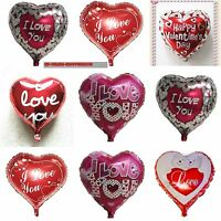 Happy Valentine's Day Foil balloons Red Heart I Love You Wedding party baloons