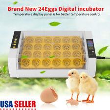 24 Egg Digital Incubator Hatcher Temperature Control Automatic Turning Chicken