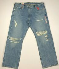 Men's Levi's 569 Loose Straight Warp Stretch Distressed Torn Jeans